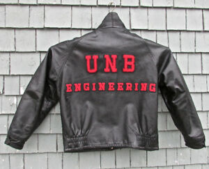 VINTAGE UNB BLACK LEATHER ENGINEERING JACKET