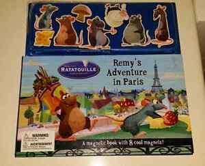 Disney Pixar RATATOUILLE Remy's Adventure In Paris Magnetic Book