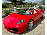 2008 FERRARI F430 F1 SPIDER IN ROSSO RED WITH BIEGE LEATHER ONLY 26OOO MILES