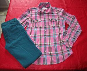 Girls Aeropostale blouse size Med & Jeggings size 2 regular