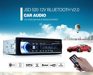NEW Car Audio Stereo Bluetooth Phone Player