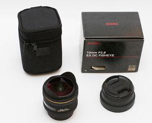 Sigma 10mm f/2.8 EX DC HSM Fisheye Lens pour Pentax SLR
