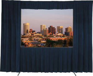 Large Projection Screen with drape - Delite fast fold 7x10ft