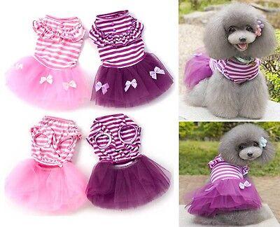 Pet Dog Cat Tutu Dress Lace Skirt Clothes Puppy Princess Fancy Costume Apparel
