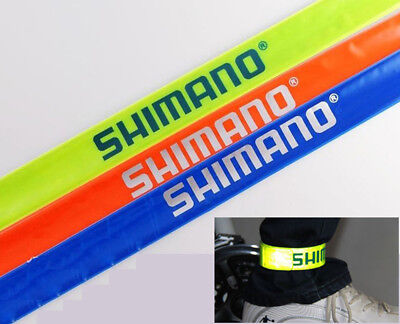 - Shimano Arm Leg Reflective Strap Belt Safety Reflector Bike Bicycle 2 Bands