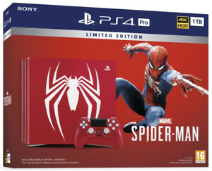 Limited Edition Spider-Man PS4 Pro 1TB Bundle (Brand New)