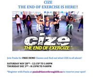 CIZE - The end of Exercise is here!  FREE DEMO CLASSES