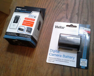*VIVITAR* Charger + Battery Canon 5D III II 6D 7D ... *NEUF/NEW*