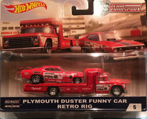 Hotwheels Plymouth Duster Funny Car Retro Rig-1 left