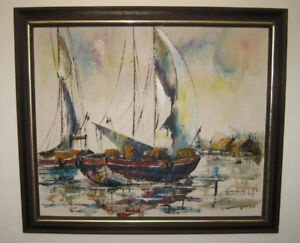 M.C.M. SEASCAPE PAINTING BY LISTED ARTIST ADRIANO MARCHELLO