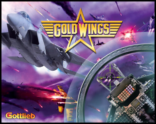 Gold Wings Pinball Alternate Translite (2 versions available)