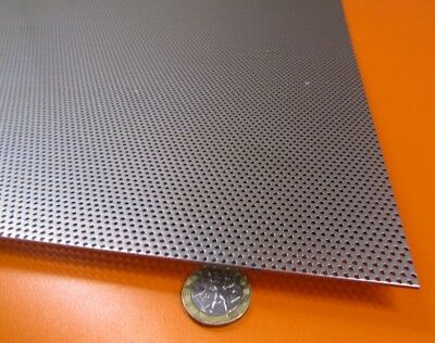 Perforated Staggered Steel Sheet .048 Thick X 24 X 24 .062 Hole Dia.