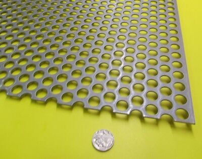 Perforated Staggered Steel Sheet .060 Thick X 24 X 24 .500 Hole Dia.