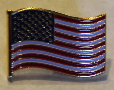 Waving United States American Flag Patriotic Lapel Pin  Very Nice!