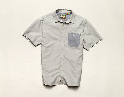 Howler Brothers Technician Shirt ~ Green Oxford NEW ~ Closeout Size XXLarge