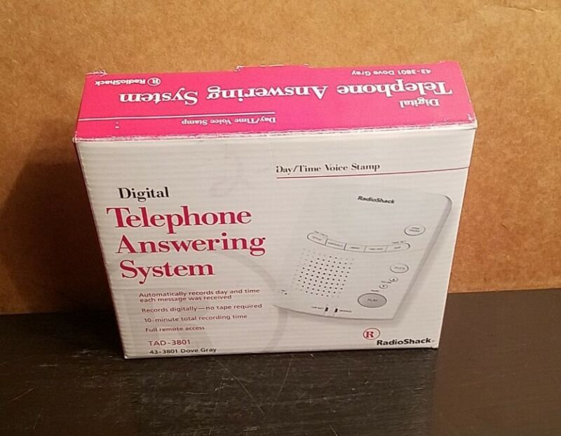 Digital Telephone Answering System TAD-3801 Dove Gray - New