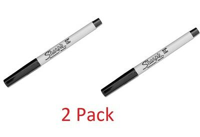 2 Pack Sharpie Precision Permanent Markers Ultra Fine Point Black Ink 37001
