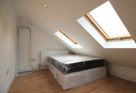 Double Bed in Comfortable rooms to rent in 7-bedroom house in Wood Green