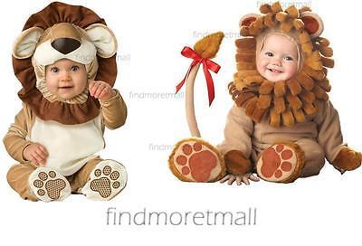 Baby Boys Girls Babygrow Loveable Lion Toddler Fancy Dress Costume - Lion Costume Toddler