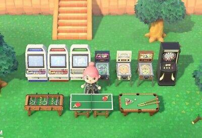 Animal Crossing New Horizons Arcade machines, gaming items set