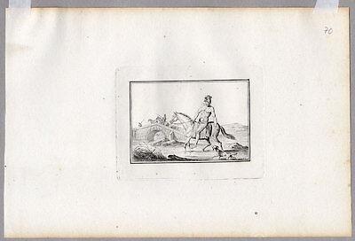 Pferde-Baden-Militaria Kupfer v Duplessis- Bertaux 1807