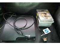 PS 3 with 2 consoles and games