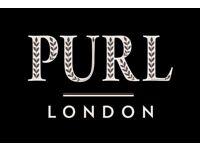 Bartender - Floor staff - Purl London Cocktail Bar