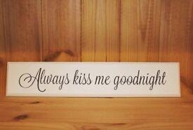 Wooden Slogan Plaques.. ♡