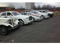 wedding cars hire bradford / beauford classic car hire bradford / Rolls royce hire / limos hire