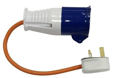 Camping & Travel 230V UK Main Hook Up Adapter Plug - Caravan, Boat & Motorhome