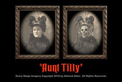 "Haunted Memories ""Aunt Tilly"" 5 X 7 Changing Portrait"
