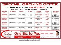 O2 SIM DEAL UK AND EUROPE UNLIMITED MIN UNLIMITED TEXT SPECIAL OFFER