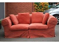 Free red sofa, must collect
