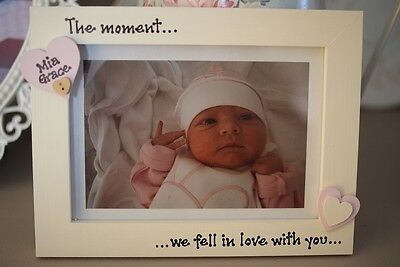 Personalised Photo Frame by Filly Folly! New Baby Gift 7x5''!