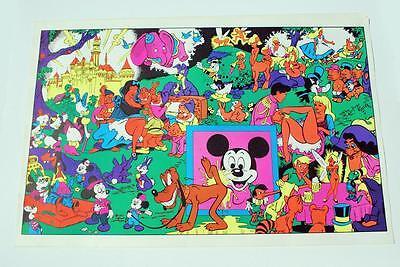 Original Wally Wood Disneyland Memorial Orgy black light poster Auction