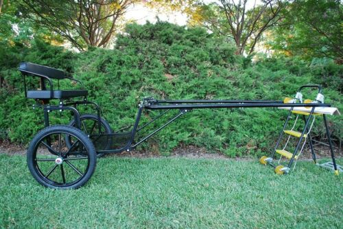 """Easy Entry Cob/Full Horse Cart w/72""""- 82"""" Straight Shafts w/18"""" Motorcycle Tires"""