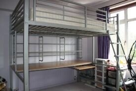 Double Bunk Bed with Desk (underneath)