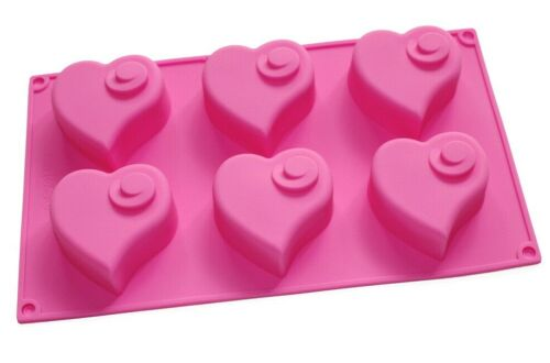 Flying Heart Silicone Soap Mold Muffin Cupcake Chocolate Bakeware Valentine Gift