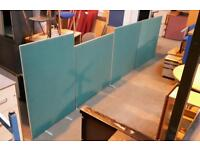 4x Matching Green Partition Wall/Divider ! Different Sizes !