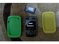 Blackberry curve unblocked with 2 case and 1 spare battery