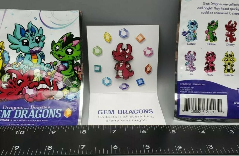 Dragons And Beasties Gem Dragon Series 2 Mystery Enamel Pin Cherry Red NEW