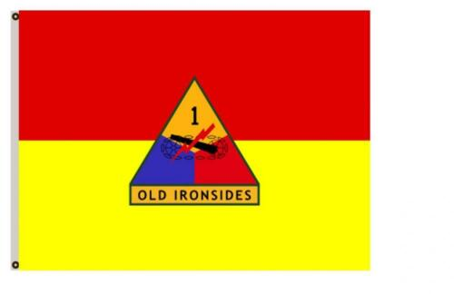 Fyon Uniformed Services Army Banner The 1st Armored Division