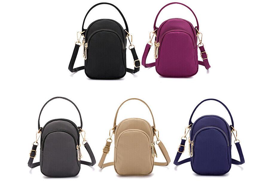 Small Women Nylon Crossbody Bag Cell Phone Purse Wallet Hand