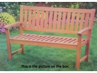 Brand New 4-Foot Hardwood Garden Bench .. Assembly & Local Delivery Available (Whitley Bay)