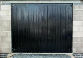 REDUCED. NEW PRICE. Now only £125. Handmade bespoke garage doors. Only one pair left.