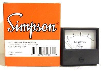 Simpson Ac Amp Meter 2152 0-1 Amp Cat 17665 New