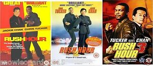 THE RUSH HOUR TRILOGY DVD ALL 1 2 3 MOVIE FILM COLLECTION BRAND NEW JACKIE CHAN