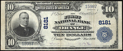 10 1902 First National Bank Of Orange Ch 8181 Vf Orange County California