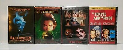 Vampire Doctor Halloween (LOT OF 4 HORROR DVD MOVIES: Halloween She Creature The Howling Dr Jekyll Mr)