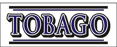 A122 TOBAGO Airplane banner hangar garage decor Aircraft signs